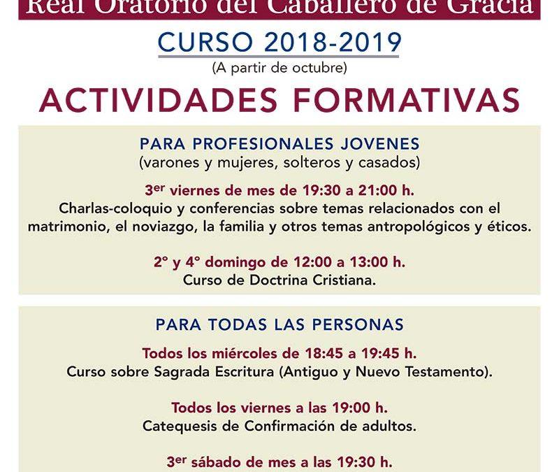 CURSO 2018-2019 ACTIVIDADES FORMATIVAS